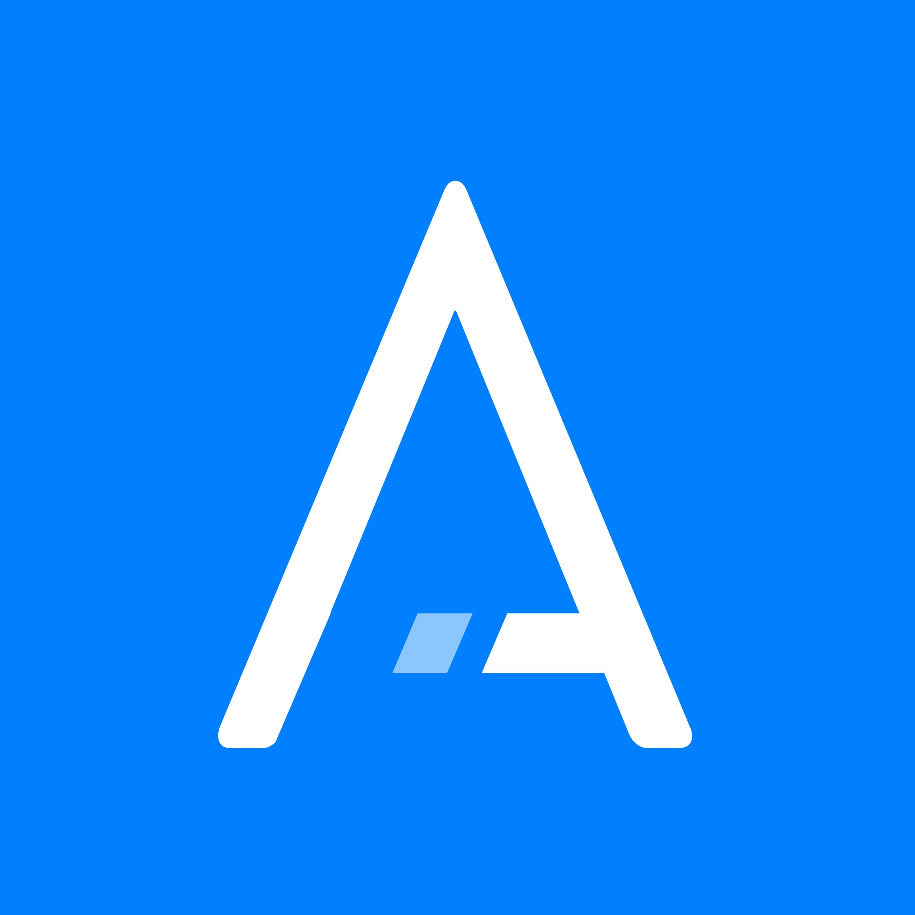 Schmetterling Techniklösungen für Reisebüros - ARGUS Logo - weißes A auf blauem Hintergrund