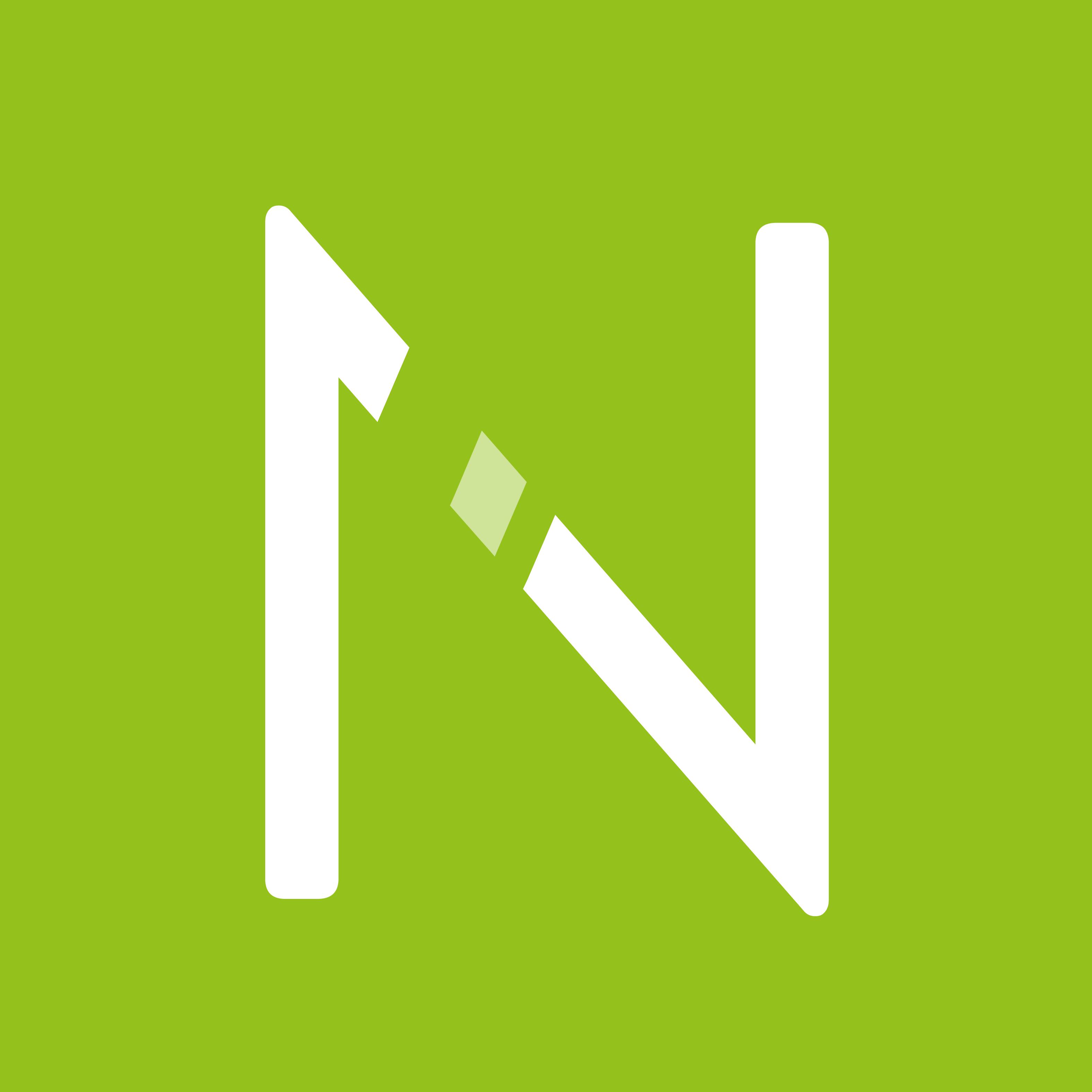 Schmetterling Techniklösungen für Reisebüros NEO Logo - weißes N auf grünem Hintergrund
