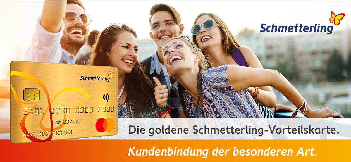 Goldene Schmetterling-Vorteilskarte: Header