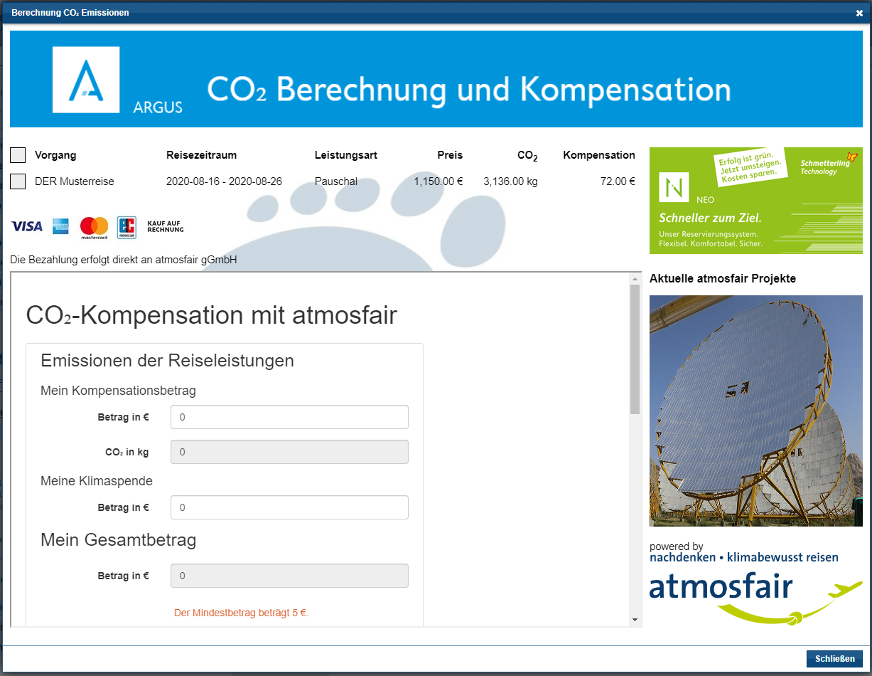 vor9-Beitrag: Screenshot ARGUS/atmosfair