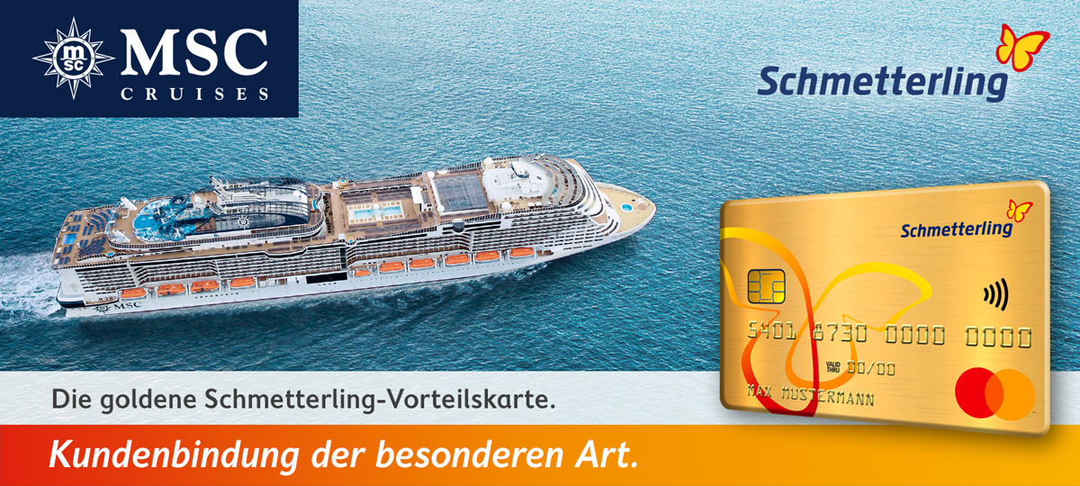Header MSC-Aktion goldene Schmetterling-Vorteilskarte