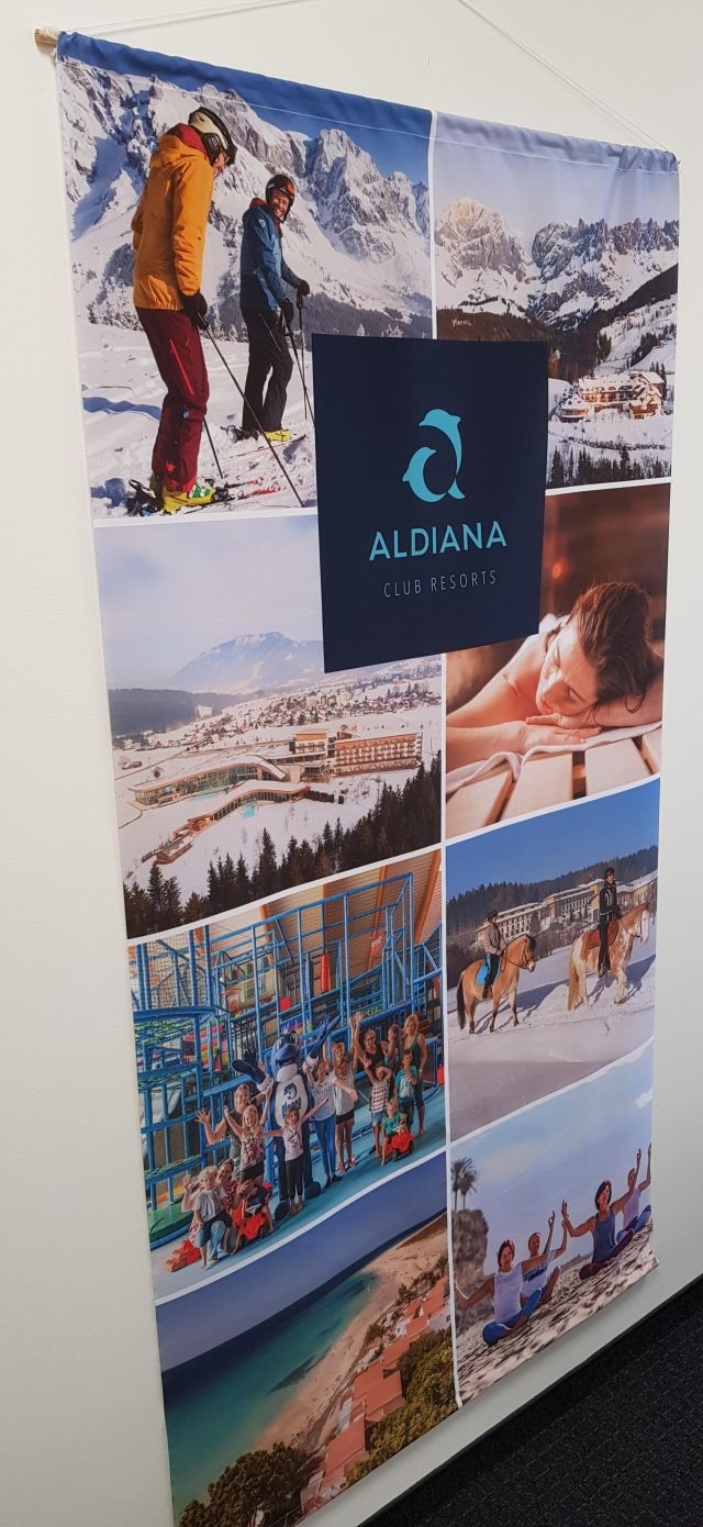 Aldiana Schaufensterdeko: Ansicht